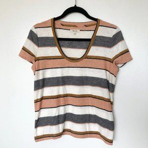 Madewell Drop Kneck Striped Tee